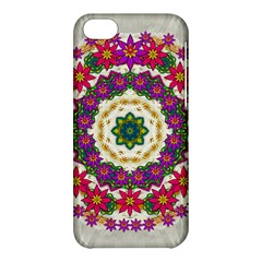Fauna Fantasy Bohemian Midsummer Flower Style Apple Iphone 5c Hardshell Case by pepitasart