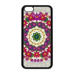 Fauna Fantasy Bohemian Midsummer Flower Style Apple Iphone 5c Seamless Case (black) by pepitasart