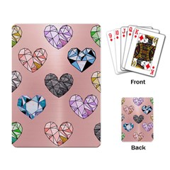 Gem Hearts And Rose Gold Playing Card by 8fugoso