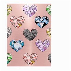 Gem Hearts And Rose Gold Large Garden Flag (two Sides) by 8fugoso