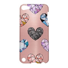 Gem Hearts And Rose Gold Apple Ipod Touch 5 Hardshell Case by 8fugoso