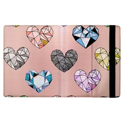 Gem Hearts And Rose Gold Apple Ipad 3/4 Flip Case by 8fugoso