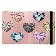 Gem Hearts And Rose Gold Apple Ipad Pro 9 7   Flip Case by 8fugoso