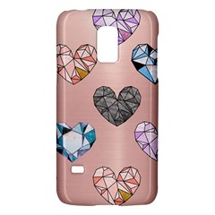 Gem Hearts And Rose Gold Samsung Galaxy S5 Mini Hardshell Case  by 8fugoso