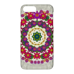 Fauna Fantasy Bohemian Midsummer Flower Style Apple Iphone 7 Plus Hardshell Case by pepitasart