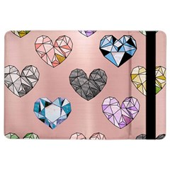 Gem Hearts And Rose Gold Ipad Air 2 Flip