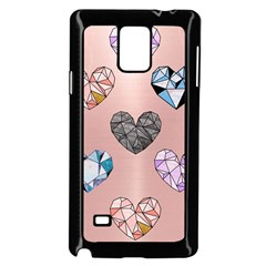 Gem Hearts And Rose Gold Samsung Galaxy Note 4 Case (black) by 8fugoso