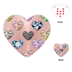 Gem Hearts And Rose Gold Playing Cards (heart)  by 8fugoso