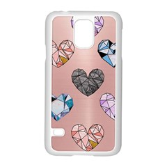 Gem Hearts And Rose Gold Samsung Galaxy S5 Case (white) by 8fugoso