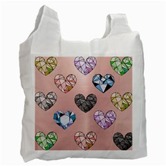 Gem Hearts And Rose Gold Recycle Bag (one Side) by 8fugoso