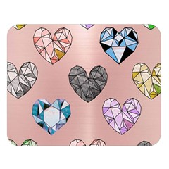 Gem Hearts And Rose Gold Double Sided Flano Blanket (large)  by 8fugoso