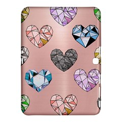 Gem Hearts And Rose Gold Samsung Galaxy Tab 4 (10 1 ) Hardshell Case  by 8fugoso