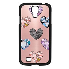 Gem Hearts And Rose Gold Samsung Galaxy S4 I9500/ I9505 Case (black) by 8fugoso
