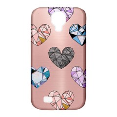 Gem Hearts And Rose Gold Samsung Galaxy S4 Classic Hardshell Case (pc+silicone) by 8fugoso