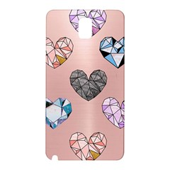 Gem Hearts And Rose Gold Samsung Galaxy Note 3 N9005 Hardshell Back Case by 8fugoso