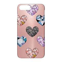 Gem Hearts And Rose Gold Apple Iphone 8 Plus Hardshell Case by 8fugoso