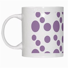 Violet Dots White Mugs by snowwhitegirl