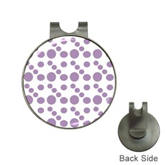 Violet Dots Hat Clips With Golf Markers by snowwhitegirl
