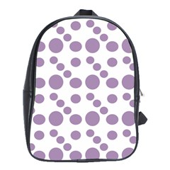 Violet Dots School Bag (xl) by snowwhitegirl