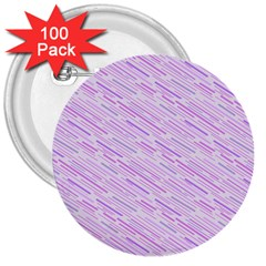 Silly Stripes Lilac 3  Buttons (100 Pack)  by snowwhitegirl