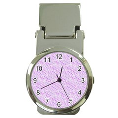 Silly Stripes Lilac Money Clip Watches by snowwhitegirl