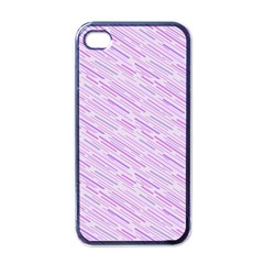 Silly Stripes Lilac Apple Iphone 4 Case (black) by snowwhitegirl