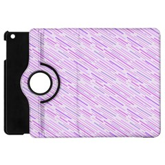 Silly Stripes Lilac Apple Ipad Mini Flip 360 Case by snowwhitegirl