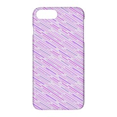 Silly Stripes Lilac Apple Iphone 7 Plus Hardshell Case by snowwhitegirl