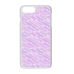 Silly Stripes Lilac Apple Iphone 7 Plus Seamless Case (white) by snowwhitegirl