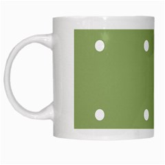 Olive Dots White Mugs by snowwhitegirl