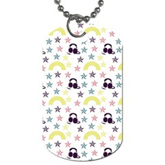 Music Stars Dog Tag (two Sides) by snowwhitegirl
