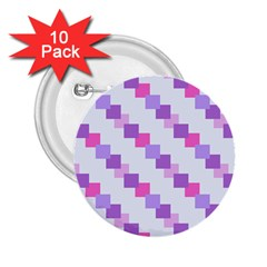 Geometric Squares 2 25  Buttons (10 Pack)