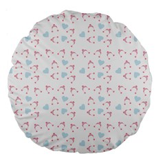 Pink Hats Large 18  Premium Flano Round Cushions