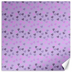 Heart Drops Violet Canvas 12  X 12   by snowwhitegirl