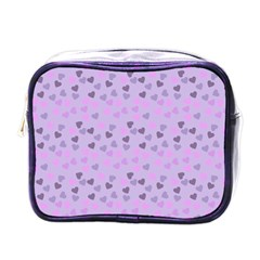 Heart Drops Violet Mini Toiletries Bags by snowwhitegirl