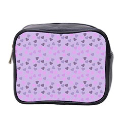 Heart Drops Violet Mini Toiletries Bag 2 Side by snowwhitegirl