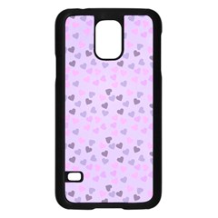 Heart Drops Violet Samsung Galaxy S5 Case (black) by snowwhitegirl