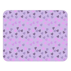 Heart Drops Violet Double Sided Flano Blanket (large)  by snowwhitegirl
