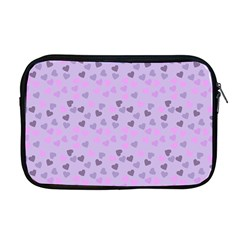 Heart Drops Violet Apple Macbook Pro 17  Zipper Case by snowwhitegirl