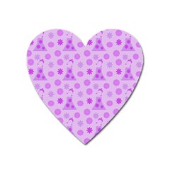 Purple Dress Heart Magnet
