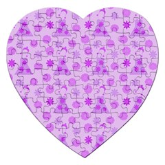 Purple Dress Jigsaw Puzzle (heart) by snowwhitegirl
