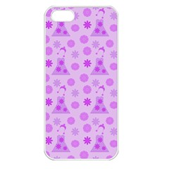 Purple Dress Apple Iphone 5 Seamless Case (white) by snowwhitegirl