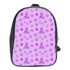 Purple Dress School Bag (xl) by snowwhitegirl