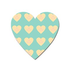 Teal Cupcakes Heart Magnet