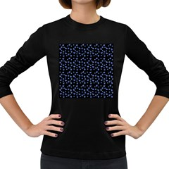 Blue Hearts Women s Long Sleeve Dark T Shirt by snowwhitegirl