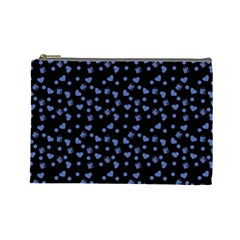 Blue Hearts Cosmetic Bag (large)