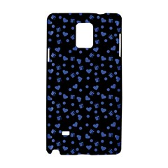 Blue Hearts Samsung Galaxy Note 4 Hardshell Case by snowwhitegirl