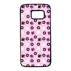 Pink Donuts Samsung Galaxy S7 Black Seamless Case