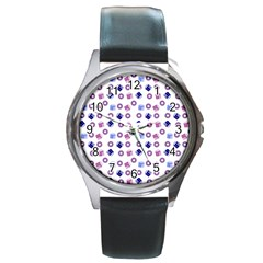 Milk And Donuts Round Metal Watch
