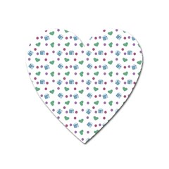 White Milk Hearts Heart Magnet by snowwhitegirl